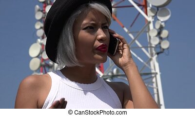 Upset Woman Talking On Phone