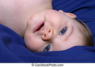 Upside Down Boy - Portrait of Boy Upside Down