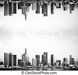 Upside down city
