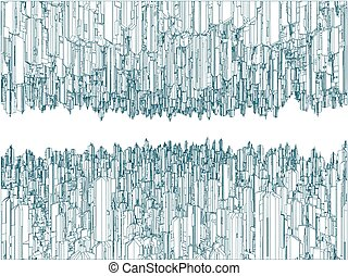 Upside Down Futuristic City