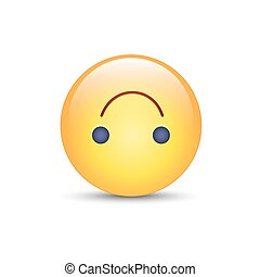 Upside-Down happy emoticon. Cartoon cute vector emoji. Social media upside down smiley