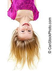 Upside down kid