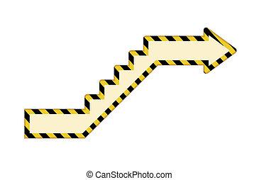 upstairs arrow
