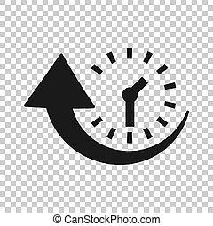 uptime, zakelijk, klok, concept., vrijstaand, illustratie,...