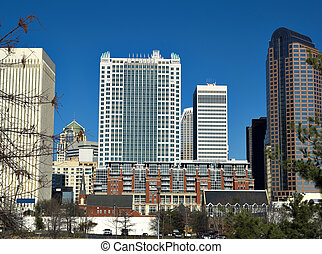 Uptown Charlotte NC - Some tall buildings in Charlotte North...