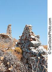 Uptown Monemvasia - View on ruins at uptown Monemvasia at ...