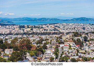 Uptown San Francisco - San Francisco Uptown Cityscape. San...
