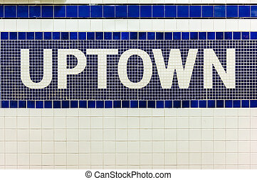 Uptown trains in NYC subway