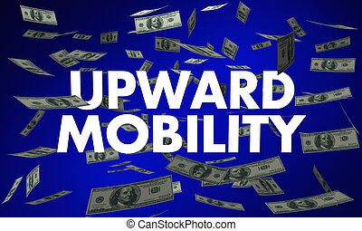 Upward Mobility Earning Income Growth Money Falling 3d Illustration
