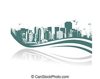 uraben city - Big City - Grunge styled urban background. ...