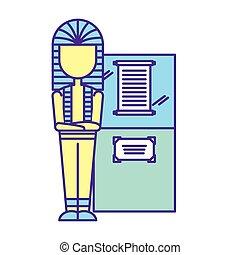 uralt, mumie, museum, pharao, ausstellung, dokument