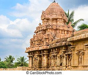uralt, nadu, hindu, indien, komplex, thanjavur, architektur,...