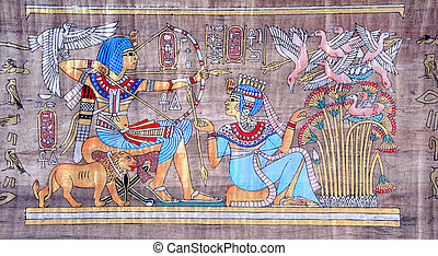 uralt, papyrus, ägypter
