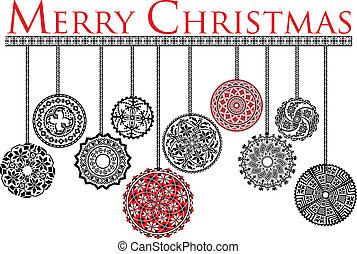 uralt, weihnachten, kugeln