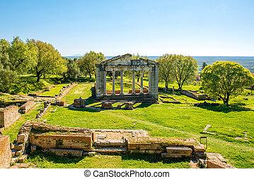 uralte ruinen, tempel, apollonia