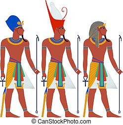 uraltes ägypten, pharao, satz, für, passah