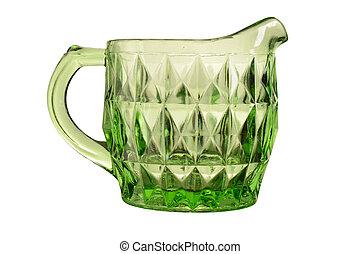 Uranium Depression Glass Cream Jug