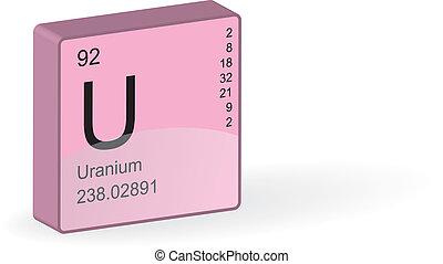 Uranium Element, vector illustration.