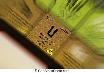 Uranium, periodic table - The element Uranium, from the...