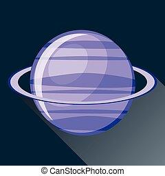 Uranus planet icon