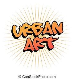 urbain, art, graffiti, conception
