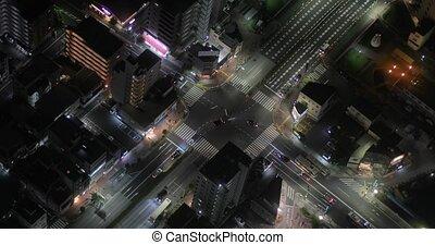 urbain, au-dessus, trafic