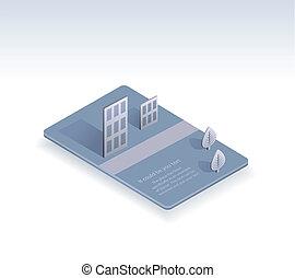 urbain, carte affaires