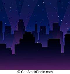 urbain, cityscape, soir