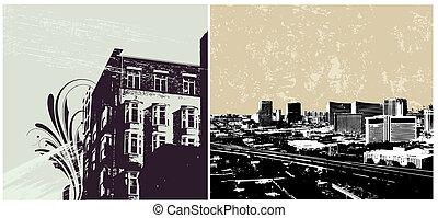 urbain, cityscapes, vectors