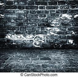 urbain, concept, grunge, abandonnés, extérieur, mur, plâtre,...
