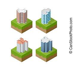 urbain, ensemble, district