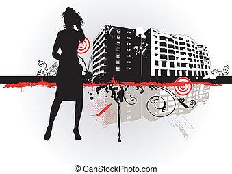 urbain, femme