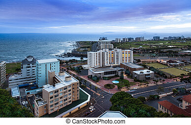 urbain, horizon ville, cap, sud, afrique.