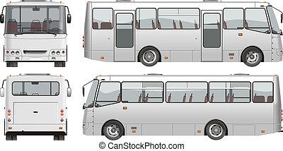 urbain, passager, mini-bus