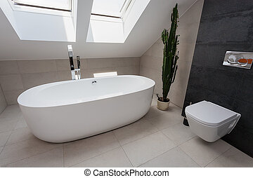 urbain, salle bains, appartement, -, luxe