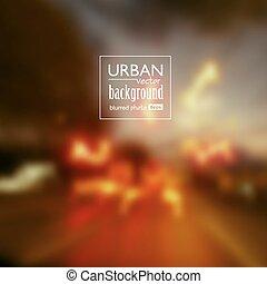 urbain, scène abstraite, fond, nuit