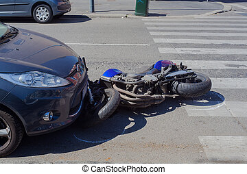 urbain, scooter, rue, fracas