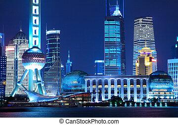 urbain, shanghai, paysage
