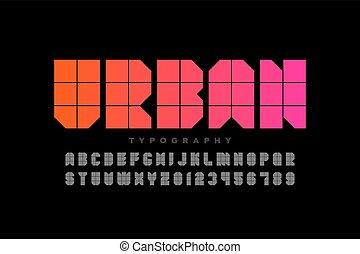 urbain, style, police