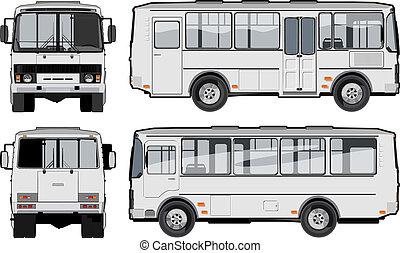 urbain, /, suburbain, passager, mini-bus
