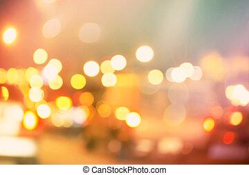 urbain, trafic, scène, fond, brouillé