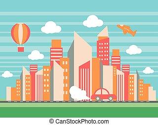 urbain, ville bâtiments