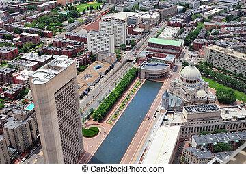urbain, ville, vue aérienne
