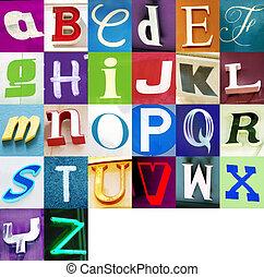 urban, alfabet