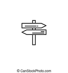 Urban and city element icon - pointer in trendy simple line art style