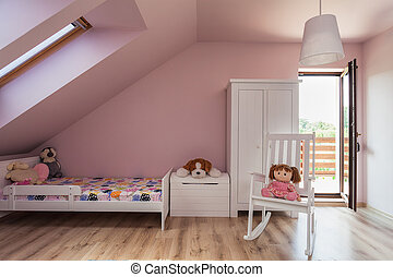 Urban apartment - girl's room - Urban apartment - pink...