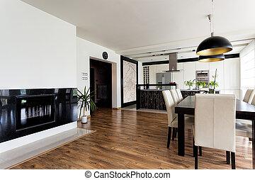 Urban apartment - white and black interior - Urban apartment...
