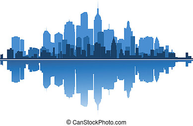 Urban architecture for business concept design. Vector...