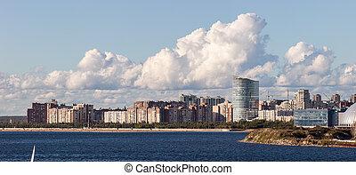 urban area of Sankt-Peterburg on the sea coast