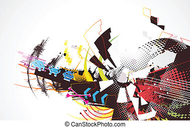 urban background - Vector illustration of abstract urban...